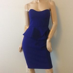 Bisou Bisou Michele Bohbot size 6 strapless dress